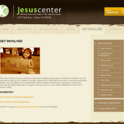Jesus Center Chico Get Imvolved