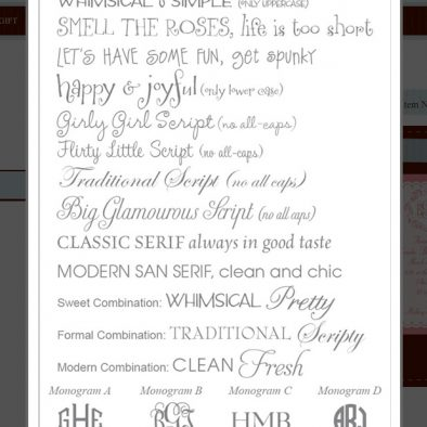 Typeset Selections