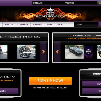 Road Royalty Landing Page