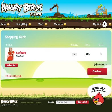 Angry Birds Cart